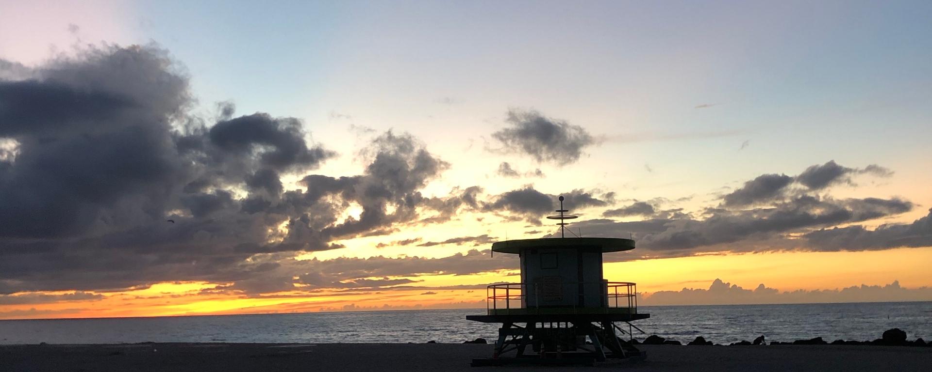 Dawn on Miami Beach